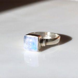 Moonstone Sterling Silver Ring 5 Boho Stacking